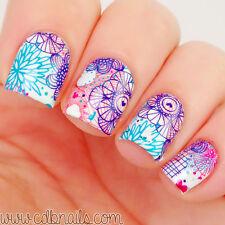 2 Patterns/Sheet Flower Nail Art Water Decals Sticker Wraps BORN PRETTY BP-W15