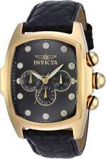 New Men's Invicta 14550 Lupah Swiss Multi Function Black Dial Leather Watch