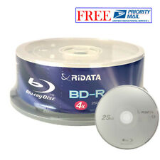 25 Pack Ridata 4X BD-R BDR 25GB Blue Blu-ray Logo Recordable Blank Media Disc