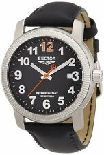 Sector No Limits R3251139025 Black Band & Dial Date 500 Men's Watch $225
