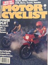 Motor Cyclist Magazine Kawasaki GPz Vs Suzuki Katana March 1983 092217nonrh