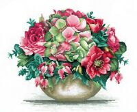 New Counted Cross Stitch Embroidery Kit Pretty Bouquet Andriana Manufacture