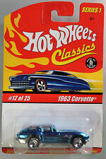 Hot Wheels 1:64 Scale HW Classics Series 1963 CORVETTE (LIGHT BLUE)