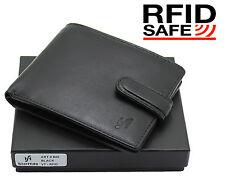 Da Uomo RFID Blocco di qualità Premium Vera Pelle Bifold Wallet Tasca Con Zip 4003brn
