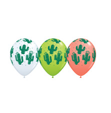 Party Supplies Mexican Fiesta Cowboy Cactus Latex Balloons Pack of 10