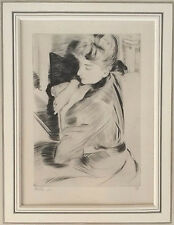 Paul-Cesaer Helleu (1859-1927) Drypoint 1894, London Gallery Label Ed. 19/100
