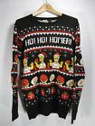 The Simpsons Ho Ho Homer Ugly Christmas Sweater Men's Size Large Black