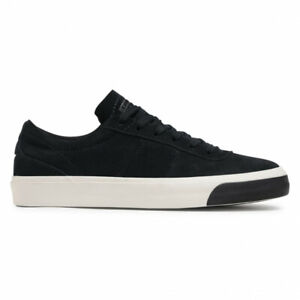 Converse Mens One Star CC Black Suede Black Sole Block Lace Up Active Trainers
