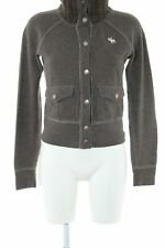 ABERCROMBIE & FITCH Sweatjack khaki gestippeld casual uitstraling Dames