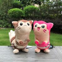 2 Style Pokemon Go Plush Furret Shiny Pink & Brown Cute Stuffed Toy Soft Doll