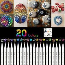 Premium Acrylstifte Marker Stifte für Steine 20 Farben Marker Paint Pen Metallic