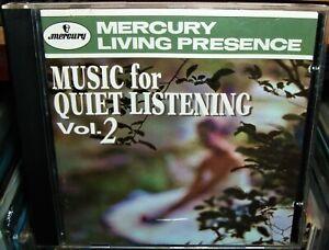 Music for Quiet Listening, Vol. 2 ERO/EP Hanson CD 1997 Mercury Living Presence