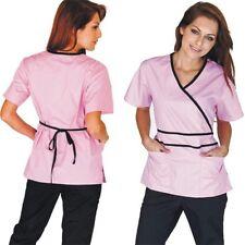 98a48ef4790 Medical Nursing Women Scrubs NATURAL UNIFORMS Contrast Mock Sets Size XS -  3XL