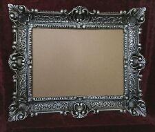 Cadre d'image baroque noir/argent rectangulaire 56x46 Cadre photo ancien 30x40