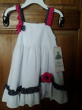 NWT • RARE EDITIONS Baby Girl's White Seersucker Dress 2T
