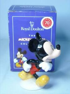 Royal Doulton MICKEY MOUSE Figurine MM1 70th Mickey Mouse Collection Disney +Box