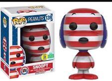 Funko Pop! Peanuts Rock The Vote Snoopy #139 SDCC 2016 Exclusive Vinyl Figure