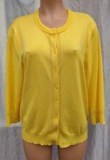 Ellen Tracy Marigold Yellow Women's Cardigan Sweater Size XL