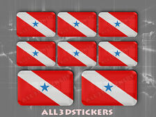 8 x 3D Stickers Resin Domed Flag Pará - Adhesive Decal Vinyl