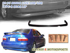 TR-Style Rear Lip (Urethane) Fits 92-95 Civic 2dr Coupe
