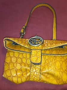 Jessica Simpson Clutch/coin Purse. Mustard Yellow Faux Snake Skin