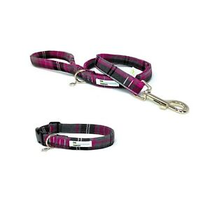 Pink Tartan Dog Collar and Optional Matching Lead Set