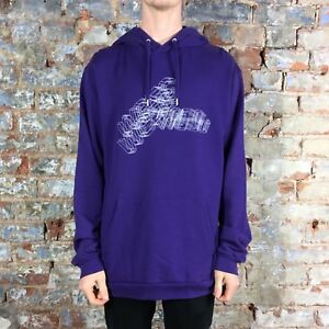 WESC Logo Wire Sweatshirt Pullover Hoodie Brand New - Purple Size: M,L