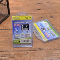 2 Zellen Karte Ausweishalter Transparent Kartenhülle ID Ausweis Schutzhülle Soft