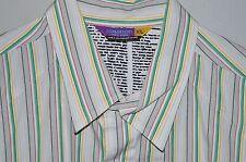 Burton Snowboard Men Multicolor Casual Button Front Long Sleeve Striped Shirt XL