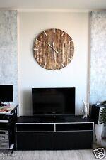 """Palette bois horloge murale """"rue"""" art industriel vintage rustique rétro shabby chic"""