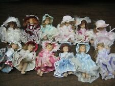 12 Miniature dolls. 4.5 inch. Lot Southern Regency Vintage-Style  No Box