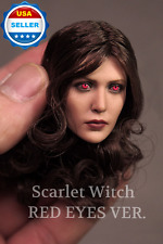 1/6 Elizabeth Olsen Scarlet Witch Head Sculpt w/ RED EYES for Phicen❶USA stock❶