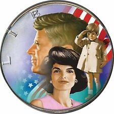 Rare Genuine Currency 1964 JFK Family Half Dollar Silver 50 Cent Colorized Coin