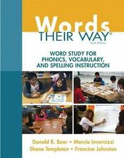 WORDS THEIR WAY - BEAR, DONALD R./ INVERNIZZI, MARCIA/ TEMPLETON, SHANE/ JOHNSTO