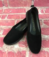 Cole Haan ZEROGRAND A-Line Loafer Nubuck / leather Black EUC Womens Size 5