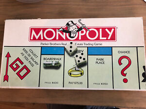 Vintage 1985 Monopoly Board Game COMPLETE Parker Brothers Classic Original