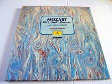 "MOZART: THE 6 ""HAYDN""-QUARTETS~AMADEUS QUARTETT~3 LP~DGG PRIVILEGE~1976"
