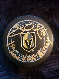 """James Neal Vegas Golden Knights Autographed Puck """"1st VGK Goal"""