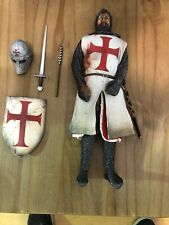 "CUSTOM 12"" KNIGHTS TEMPLAR FIGURE 1/6 SCALE."