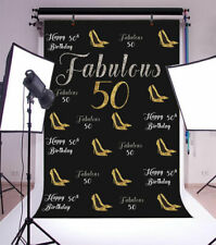 4x6ft Background Fabulous 50th Birthday Party Glitter Backdrop Photography Props