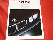 BMW 7er E32 750i 750iL Farbkarte Farben Polster Prospekt Brochure von 1/1988