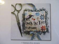 Barbara Ana Designs Counted X-stitch Chart - The Raven Scissor Fob
