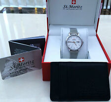 NEW Rotary St.Moritz SWISS MADE Watch MESH Bracelet Sapphire Glass Slim RRP £250