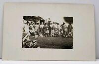 RPPC Threshing at Grandpa's 1910 Real Photo Postcard G13