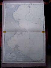 "1969 TUNISIA to LIBYA Keliba~Tripoli - Admiralty Sea MAP CHART 28"" x 41"" D11"