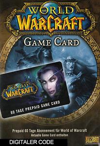 World of Warcraft GameCard 60 Tage - WoW Gamecard Prepaid Digital Code EU