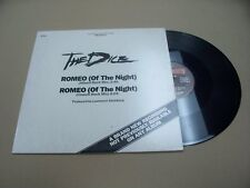 VINYL ALBUM RECORD,PROMO/DEMO, THE DICE ROMEO OF THE NIGHT 12 INCH,1984