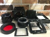 [TOP MINT Body] Mamiya RB67 Pro S + Sekor C 127mm f/3.8 Lens , Polaroid Back JPN