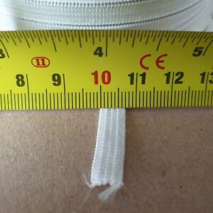"""3m of White - 6mm Wide 1/4"""" 5 Cord Thin Flat Elastic Craft Sewing face coverings"""