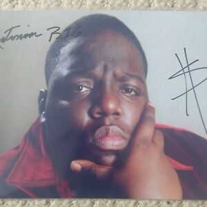 NOTORIOUS B.I.G BIGGIE SMALLS BAD BOY HAND SIGNED PHOTOGRAPH WITH C.O.A.